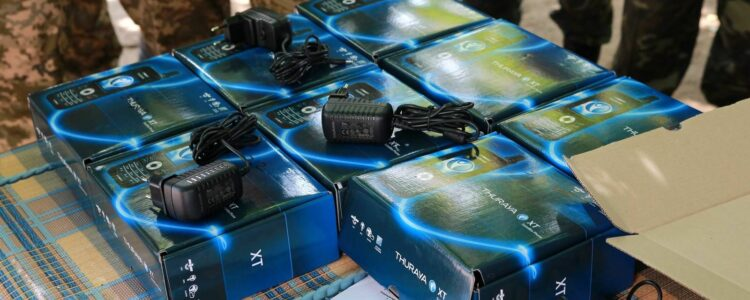 Thuraya devices handed to fighters