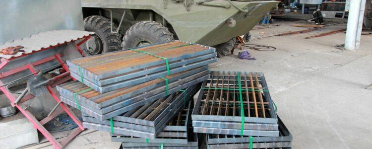 Металовироби і витратні матеріали для виготовлення захисного екрану БТР – 60