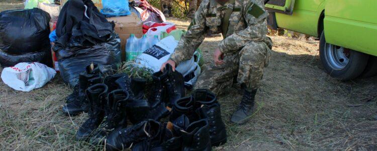 Передача гуманітарної допомоги десантникам 79 бригади в зону АТО