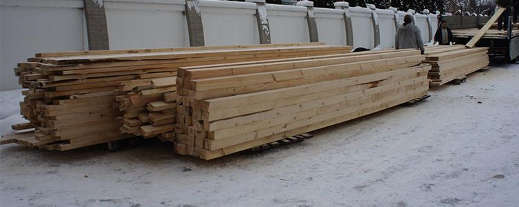 Lumber for first dugouts