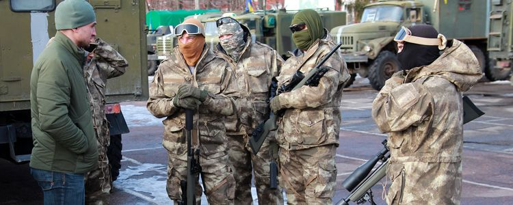 Kirovograd special troopers receive combat fatigues
