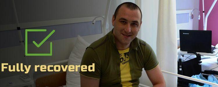 Olexandr, 25. Fully recovered