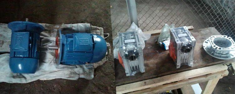 Mounting of diesel-generator, gear motors and cameras