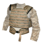 Bulletproof vest  (Khaki pixels vest, BP, 5th class - 2 samples, BP, 4th class - 2 samples, сollar, groin)