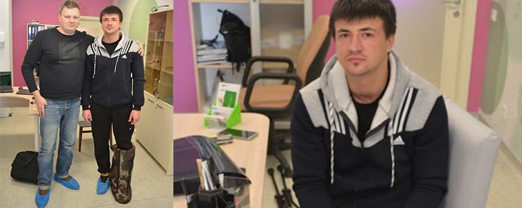 First results of treatment of ATO hero Andriy