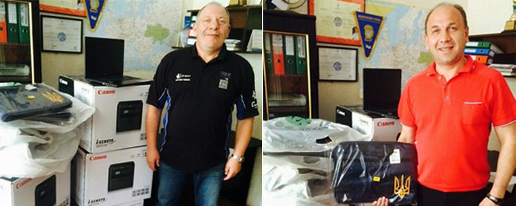 Laptops, bags and MFPs delivered to the Boxing Federation of Ukraine