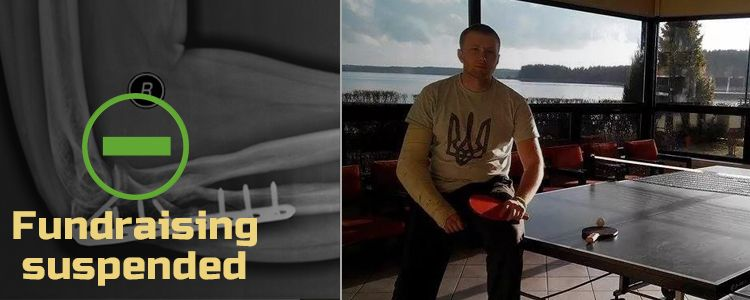 Serhiy L, 24. Fundraising for Serhiy's treatment suspended