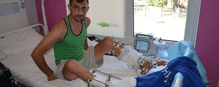"""First stage of treatment for """"Cyborg"""" Vitaliy"""