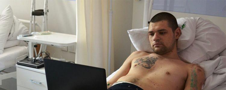 Перші результати відновлення плеча Олега!