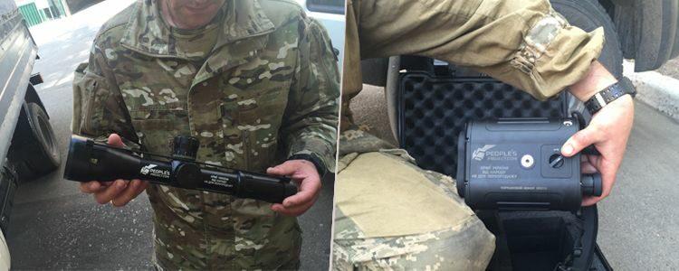 Оптичні приціли та антиснайперський детектор бійцям батальйону Кульчицького