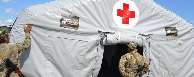 Inflatable field hospital for Marines