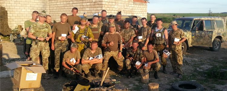 Help to fighters of the 37th armored infantry battalion