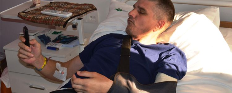 Roman undergoes first stage of surgical treatment