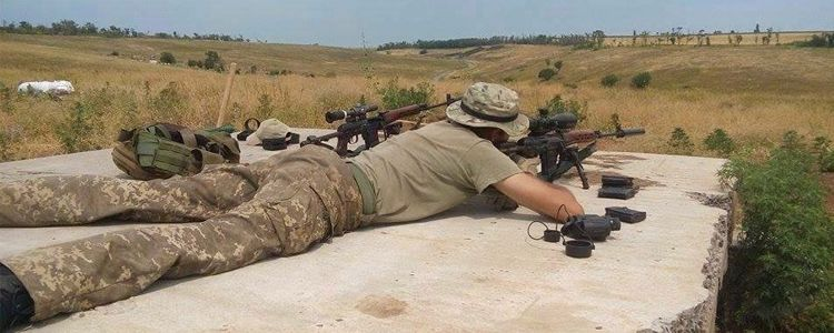 Bushnell sight on combat mission in Shyrokyne