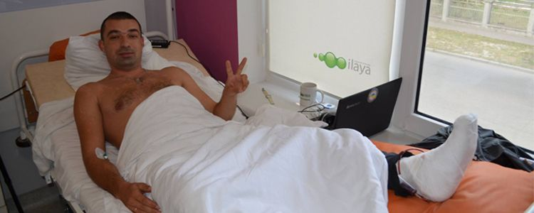 Volodymyr undergoes first operation