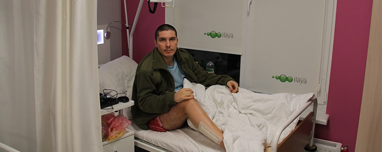 The story of one wounded soldier's treatment