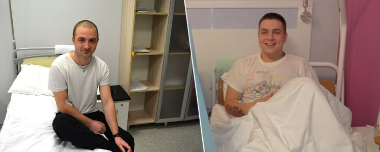 Ihor and Dmytro enter first stage of treatment