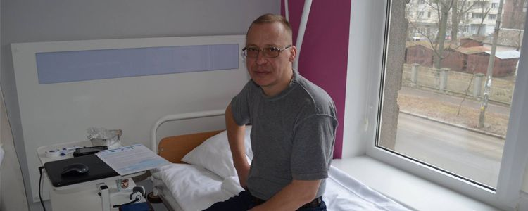 Volodymyr enters first stage of treatment