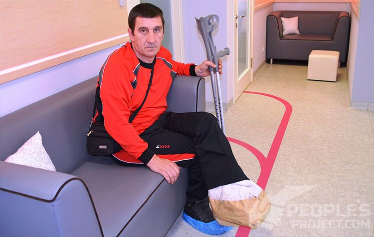 Andriy B in the hospital