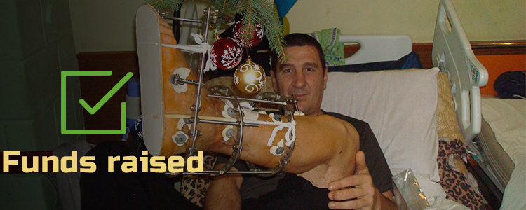 Andriy B, 40. Treatment completed. Rehabilitation is in progress