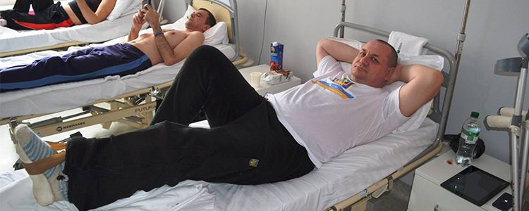 Andriy prepares for surgery