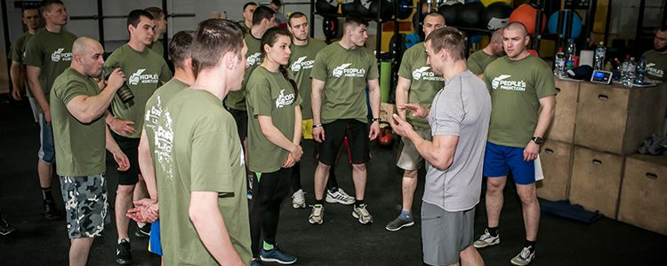 Third lesson of physical training for military trainers conducted