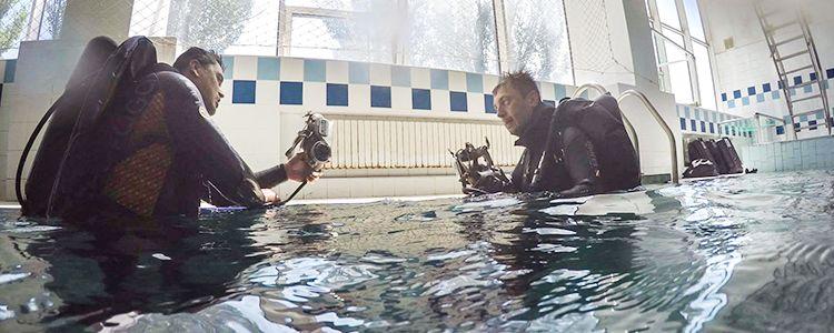 Телевізійники завітали на підготовку до старту навчання водолазів