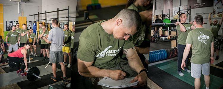 Behind scenes in another class for future military trainers in CrossFit