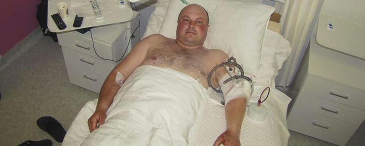 Володимир, боєць 30 ОМБр успішно пройшов перший етап лікування