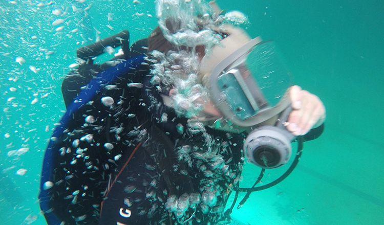 Inside divers