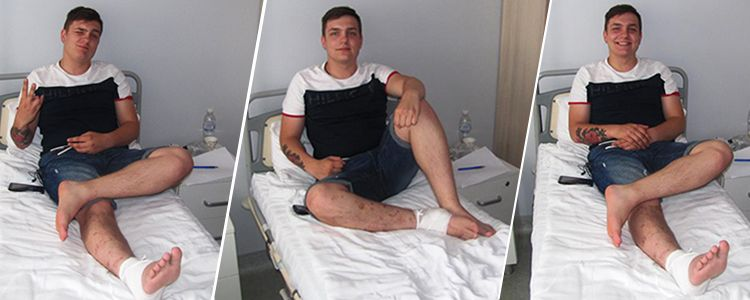 Ukrainian biotechnology restores leg of wounded 19-year-old volunteer