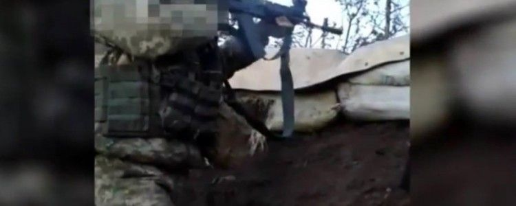 Video of fighting with terrorists in village of Zaitseve passed to volunteers