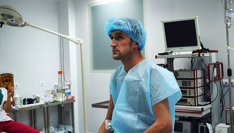 Oleksandr before surgery