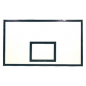 Basketball backboard 1800x1050 of laminated waterproof plywood with anti-vibration frame
