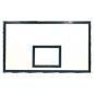 Баскетбольний щит 1800х1050 з ламінованої водостійкої фанери з антивібраційною рамою