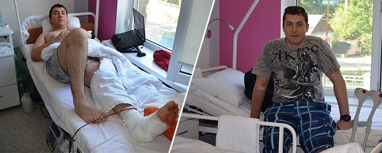 Injured defender of Donetsk airport recovering from difficult surgery