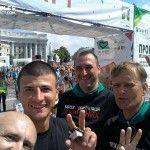 Вылеченные бойцы АТО приняли участие в «Пробеге под каштанами»