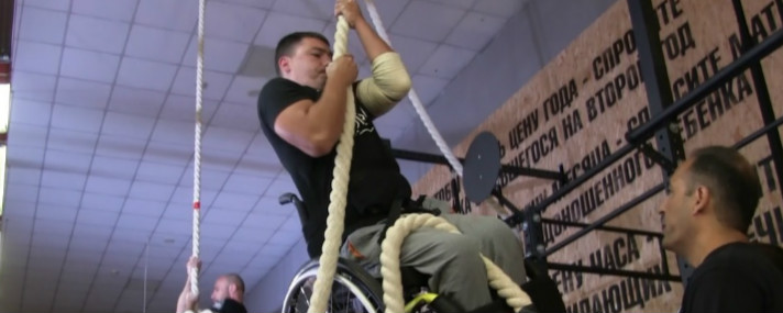 The last Games of Heroes of 2016. Cross-fit competition between ATO veteran parasportsmen