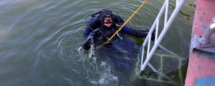 The military divers boast of their work
