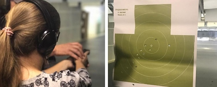 The winner fires a hundred bullets at a shooting range