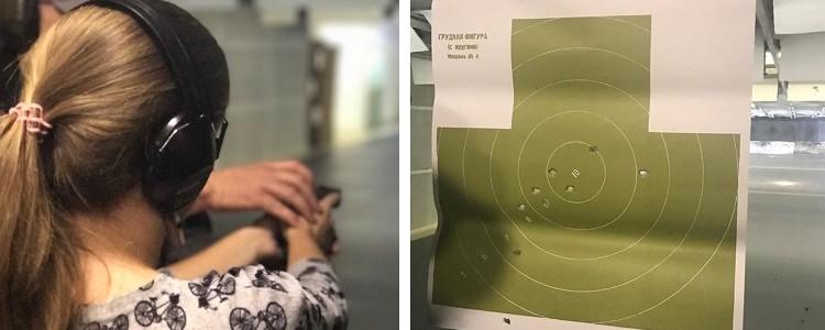 Переможниця конкурсу відстрілює 100 патронів у тирі