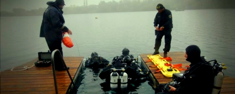 German instructors evaluated the Ukrainian military divers' professional skills