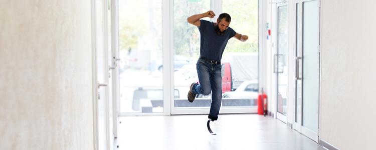 «Я майже літав!»: герой проекту «Переможці» отримав свій новий протез