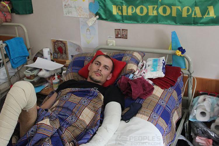 Поранений Юрій: ще у шпиталі