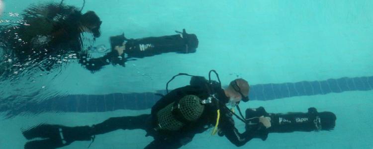 Like underwater rocket! SpecOps divers master handling speedy scooters