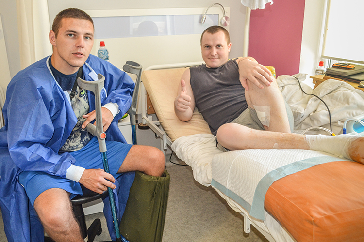Wounded veteran of 80th Air Assault Brigade is recovering thanks to volunteers | People's project