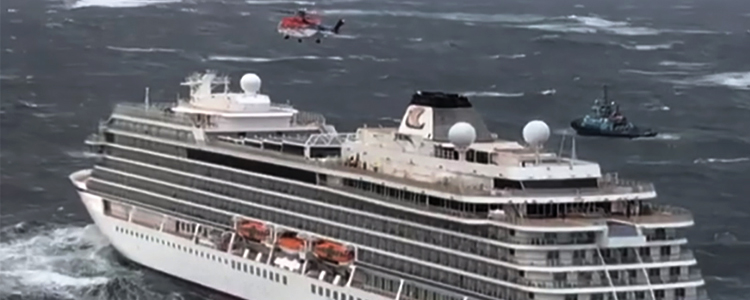 The incident involving a cruise ship near the Norwegian coast: how the rescuers had their work done