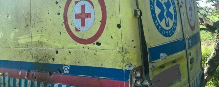 Окупанти обстріляли санітарний автомобіль. Є загиблі