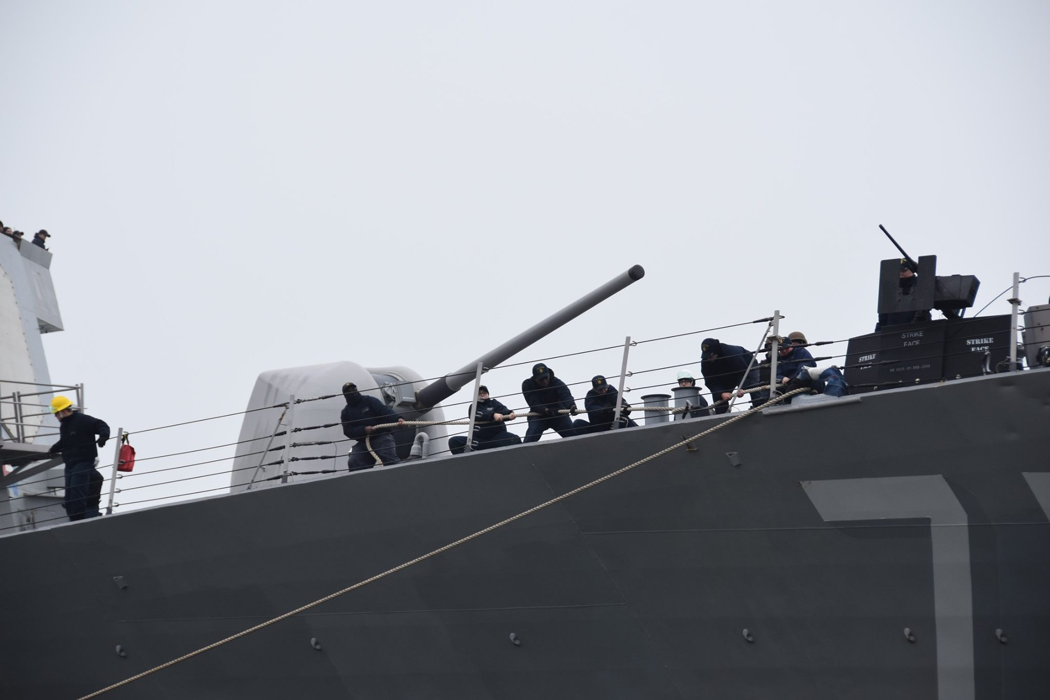 A mighty US guided-missile destroyer enters the Black Sea   People's project